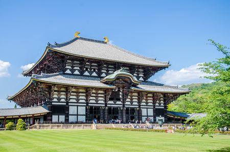 todaiji: Wooden main building of Todaiji temple in Nara, Japan Editorial