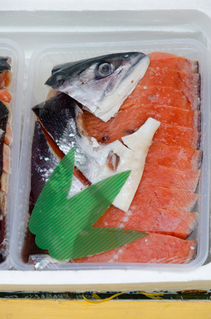 street market: Fish market, fresh fish in street market