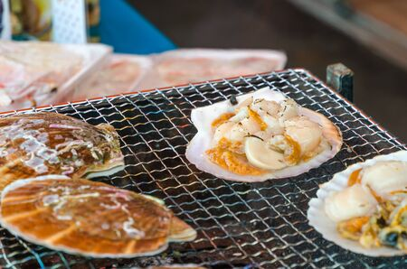 coquille: Fresh grilled scallops