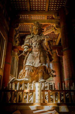 japan: Wooden main building of Todaiji temple in Nara, Japan Editorial