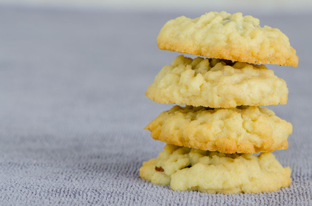 fruitcake: Stack of Homemade Fruitcake Cookies
