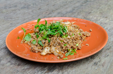 minced: Thai Fried Spicy Minced Pork