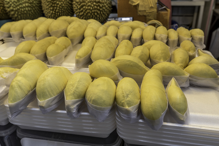 fetid: Durian, King of fruit in Thailand Stock Photo