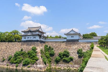 osakajo: Osaka castle or Osaka-jo, the lanmark of Osaka in Japan  Stock Photo