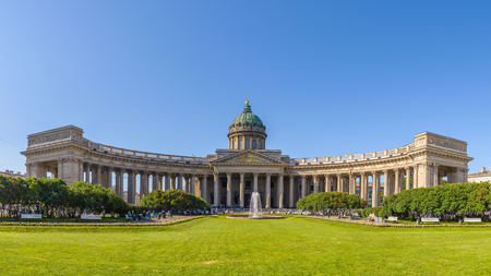 Kazan Cathedral (Cathedral of Our Lady of Kazan). A Russian Orthodox Church in Saint Petersburg, Russia Editorial