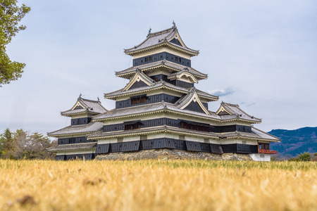Matsumoto Castle or Crow Castle. The one of Japan's premier historic castles located in the city of Matsumoto in Nagano Prefecture