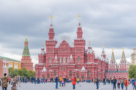 Moscow, Russia - July 09, 2017: State Historical Museum at Red Square in Moscow, Russia