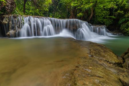 Huay Maekamin Waterfall Tier 2 (Maan Kamin) in Kanchanaburi, Thailand