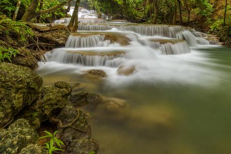 Huay Maekamin Waterfall Tier 1 (Dong Wan or Herb Jungle) in Kanchanaburi, Thailand