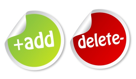 bouton ajouter: Ajouter et supprimer des autocollants Illustration