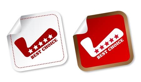 best service: Best choice stickers Illustration