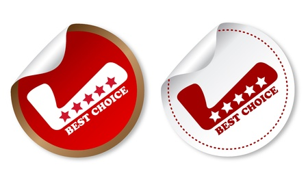 Best choice stickers Illustration