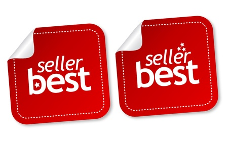 Best seller stickers Stock Vector - 11218537