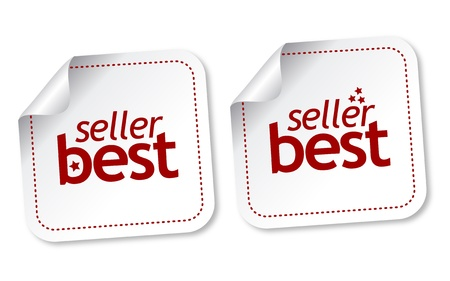 top seller: Best seller stickers Illustration