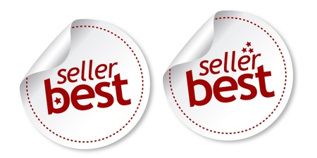 Best seller stickers Stock Vector - 11218549