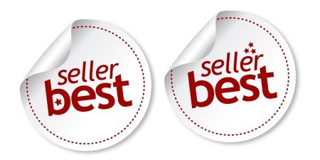 Best seller stickers Stock Vector - 11218549