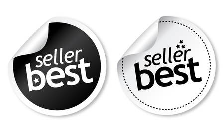 our: Best seller stickers Illustration