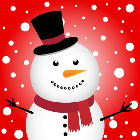 Happy Christmas snowman Stock Vector - 11218476