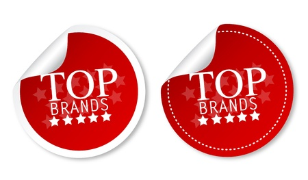 rated: Top brands stickers Illustration