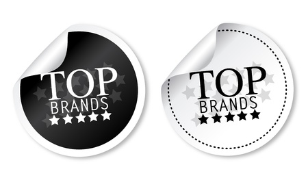 Top brands stickers Illustration