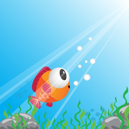 Tropical fish under water Stock Vector - 11218534