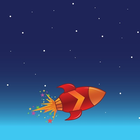 rocketship: The flying rocket in space