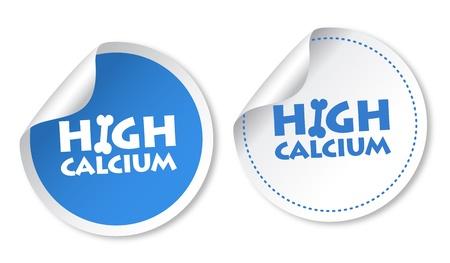 calcium: High calcium stickers Illustration