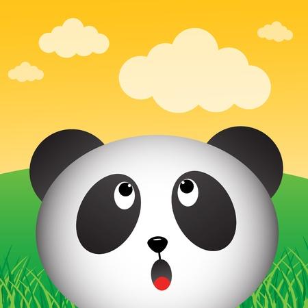 osos de peluche: Panda en el bosque Vectores