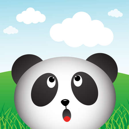 Panda in the forest Illustration