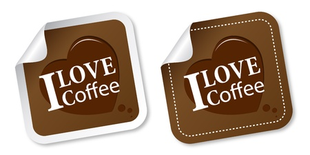 cappuccino: I love coffee stickers