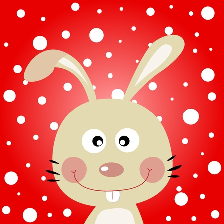 Rabbit with snowy background Stock Vector - 11218463