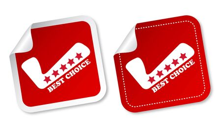 best choice: Best choice stickers Illustration