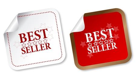 Best seller stickers Stock Vector - 11313265