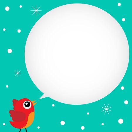 Bird speaking with a speech bubble Stock Vector - 11313224