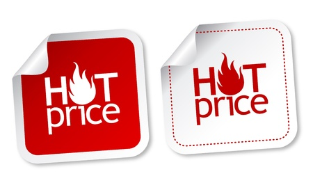 Hot price stickers Stock Vector - 11313246