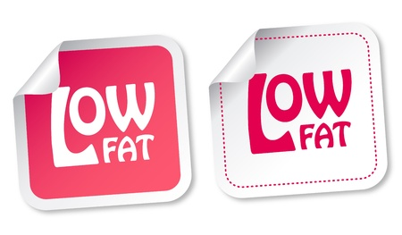 Low fat stickers Vector