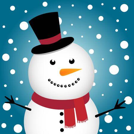 Happy Christmas snowman Stock Vector - 11313299