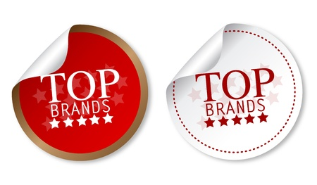 Top brands stickers Illustration