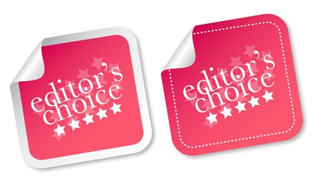 Editors choice stickers Vector