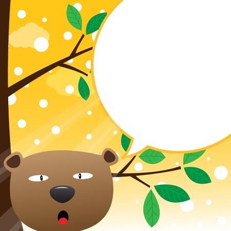 Bear speaking with a speech bubble Vector