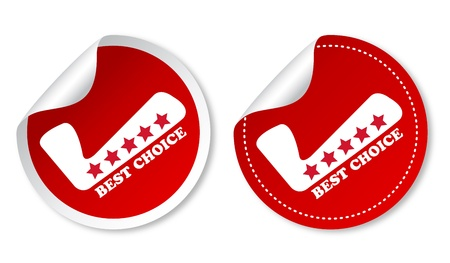 recommended: Best choice stickers Illustration