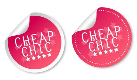 Cheap & Chic stickers Vector