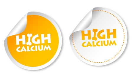 milk production: High calcium stickers Illustration