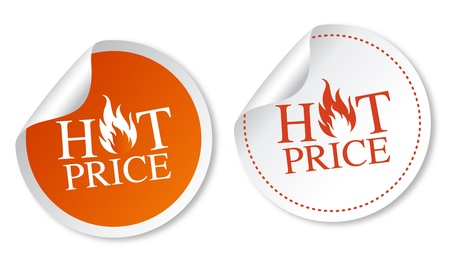 Hot price stickers Stock Vector - 11568488