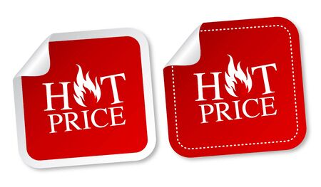Hot price stickers Vector