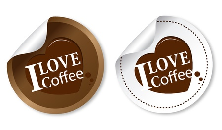 I love coffee stickers