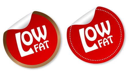 Low fat stickers Illustration