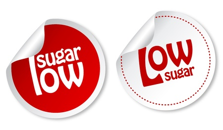 low fat: Low sugar stickers