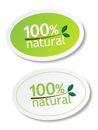 health food store: 100% natural stickers