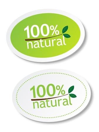 productos naturales: 100% naturales pegatinas